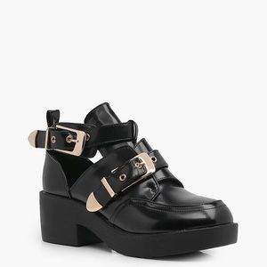 Double Buckle Chunky Boots